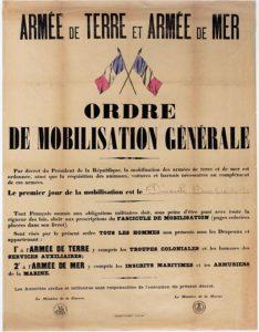 Ordre de mobilisation générale 1914