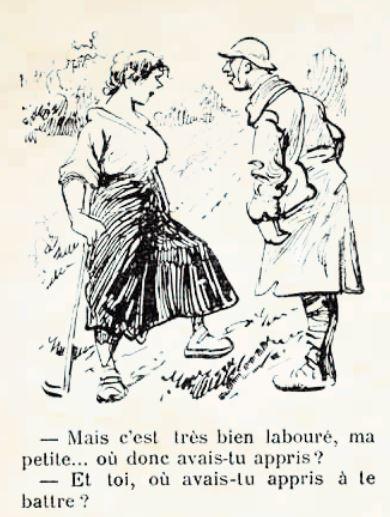 Les femmes apprennent vite pendant la guerre