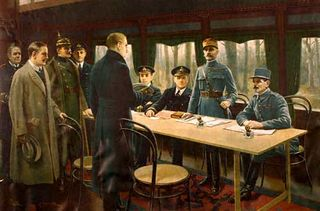 La signature de l'armistice dans la clairière de Rethondes, en forêt de Compiègne - Le retour