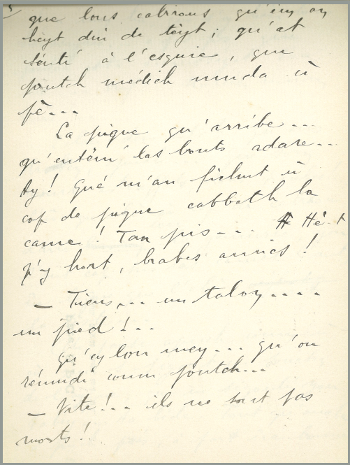 Manuscrit d'Edouard Moulia - permission