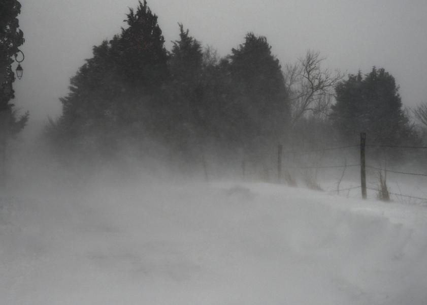 Tempête de neige - climat en Gascogne