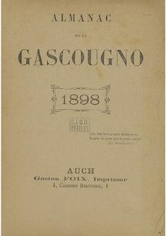 Armanac de la Gascougno prône l' armagnac