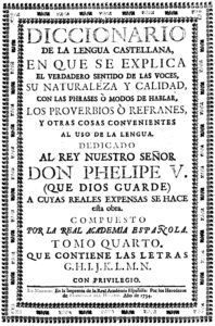 Le gavach dans le Diccionario de Autoridades