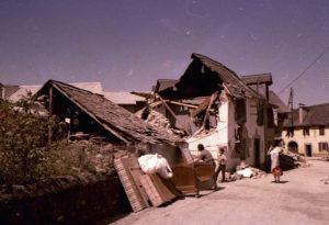 Tèrratrem en Gascogne : Arette (Pyrénées-Atlantiques) après le séisme de 1967