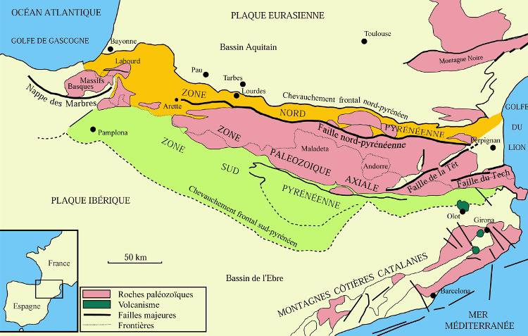 La Faille Nord-Pyrénéenne concentre les tèrratrems des Pyrénées