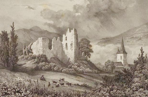 Le chateau d'Asté riné par le tèrramen de 1620