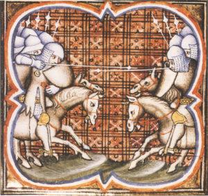 La bataille de Muret entre le Roi d'Aragon et Simon de Montfort