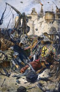 Mort de Simon de Montfort IV au siège de Toulouse