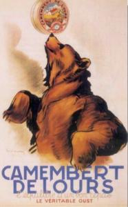 Le camembert de l'Oust : ours et la publicité