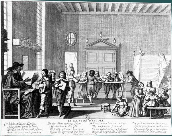 Abraham Brosse - Le maître d'école, v. 1638