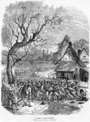 La soule en basse Normandie en 1852, un ancêtre du rugby??