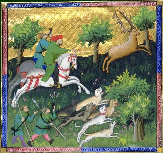 Le livre de chasse, folio 85 - - comment le bon veneur doit chasser et prendre le renne