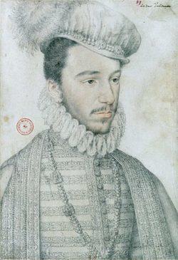 Henri, duc d'Anjou. Portrait au crayon par Jean Decourt, Paris, BnF, département des estampes, vers 1570.