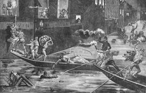 Les inondations / crues de Bordeaux de février 1879