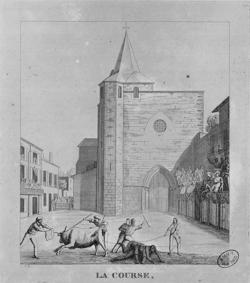 Course de taureaux à Bazas