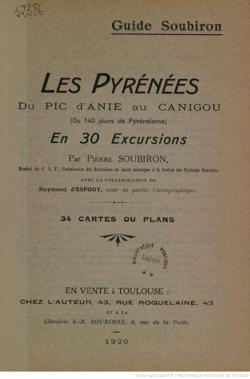 Guide Soubiron avec cartographie de R. d'Espouy (1920) (1 sur 1)