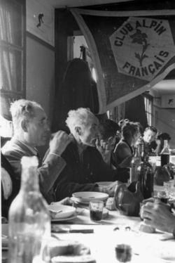 Raymond d'Espoy et Julián Delgado Úbeda lors d'une rencontre franco-espagnole