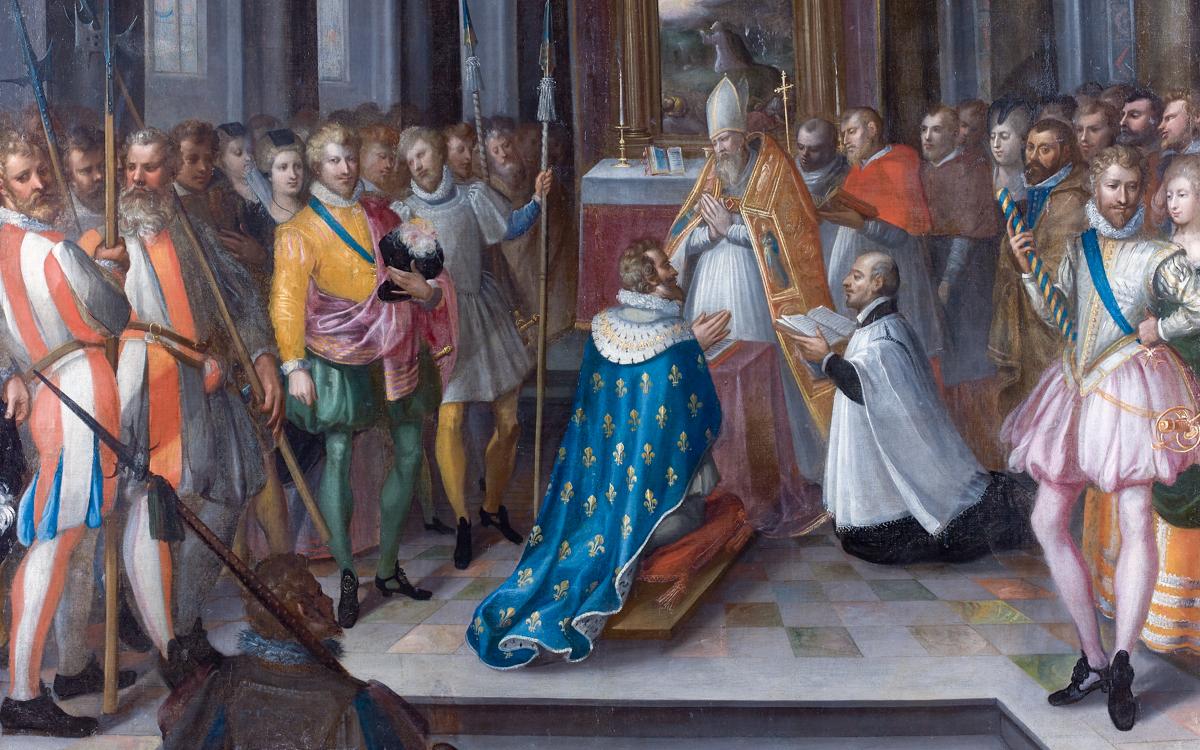 25 juillet 1593, Henri III d'Albret se convertit au catholicisme à Saint-Denis