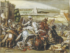 Henri III à la bataille d'Arques le 21 septembre 1589