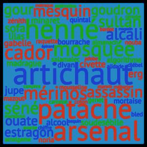 Quelques français mots empruntés à l'arabe