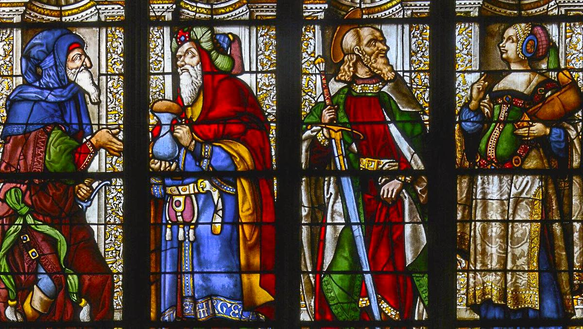 Cathédrale d'Auch - les vitraux d'Arnaut de Moles, artiste verrier gascon