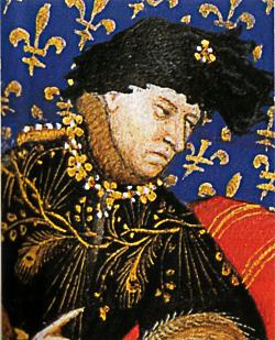 Marie d'Avignon va à la cour de Charles VI pour le convaincre de reconnaître l'anti-pape d'Avignon
