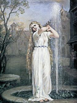Une fée ou dame blanche