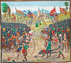 Saint Georges sera le cri e guerre à la bataille de Nájera