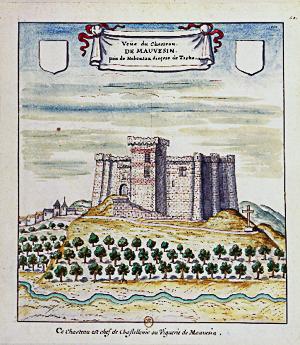 Le Château de Mauvezin (gravure de 1704)