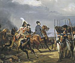 Napoléon passe les troupes en revue à Iéna
