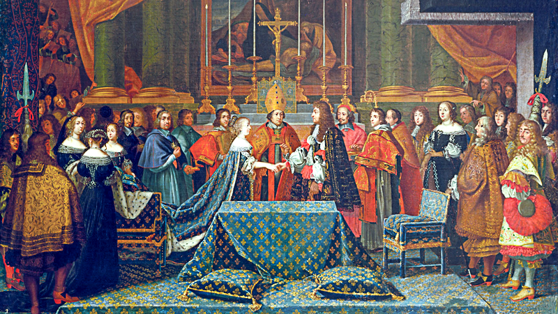 Le traité des Pyrénées et le mariage de Louis XIV avec Marie-Thérèse d'Autriche en l'Eglise de St-Jean-de-Luz, le 9 juin 1660 (J. Laumosnier)