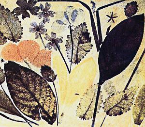 Une nature morte de Ducos du Hauron - Feuilles et pétales de fleurs (1869)