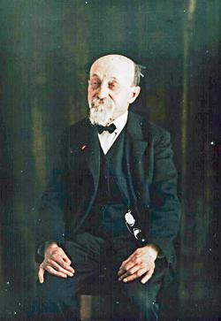 Portrait de Ducos du Hauron sur Autochrome des Frères Lumière