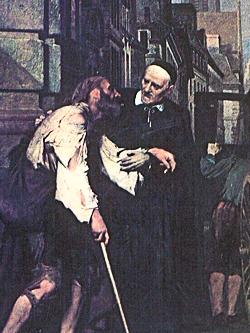 Vincent de Paul aide les plus pauvres