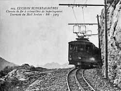 Le chemin de fer à crémaillère de Superbagnères