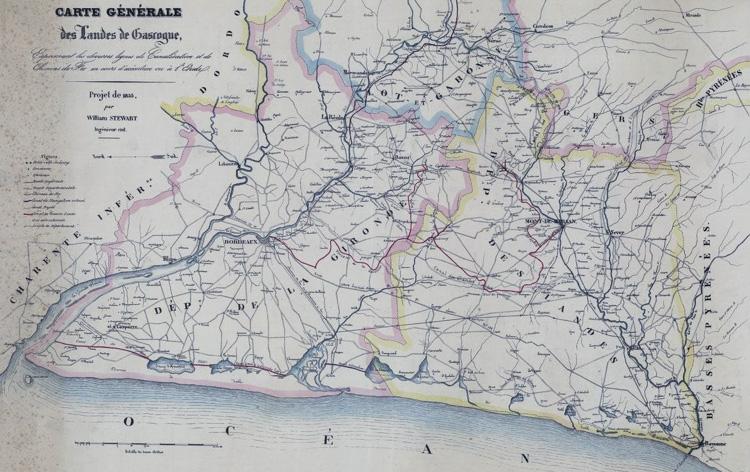 Le projet de canal entre la Gironde et l'Adour