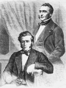 Les frères Émile et Isaac Pereire (Le Monde illustré, 1863)-2