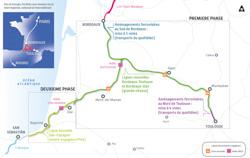 Le projet de lignes TGV du sud-ouest