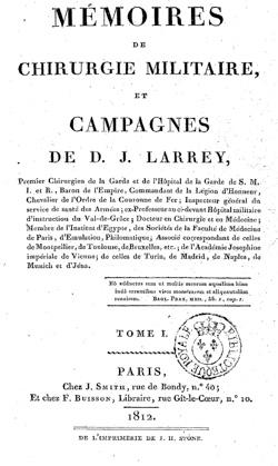 Dominique Larrey - Mémoire de chirurgie militaire (1812)-2