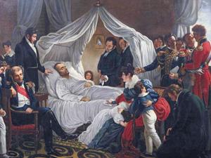 Napoléon Ier sur son lit de mort à Sainte-Hélène, le 5 mai 1821 (CA Steuben)