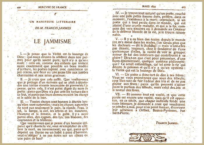 Le Manifeste Jammiste (1897)